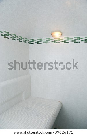 The Turkish bath with ceramic tile - stock photo