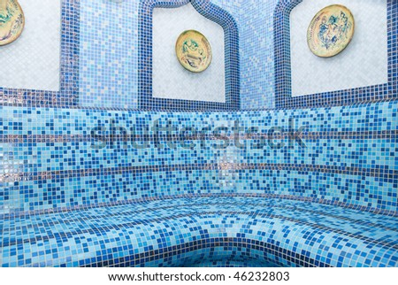 The Turkish sauna with ceramic tile - stock photo