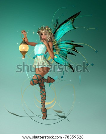 The turquoise Pixie