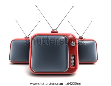 The TV - stock photo