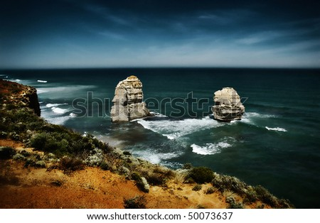the twelve apostles , great ocean road - stock photo