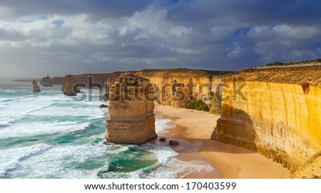 The Twelve Apostles, Great Ocean Road, Australia - stock photo