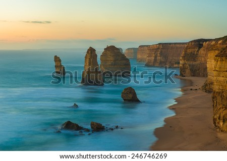 the Twelve Apostles, Victoria,Australia - stock photo