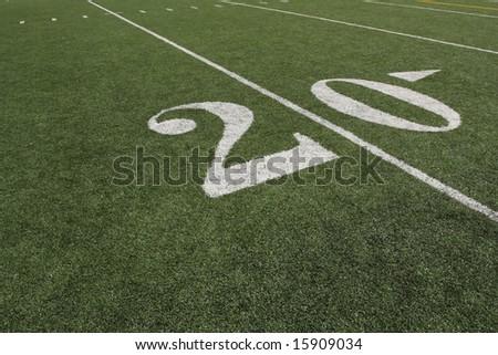The Twenty yard line - stock photo