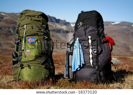 the Two Backpacks - stock photo