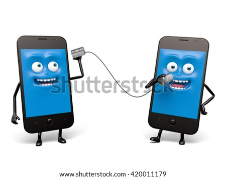 The two cellphones are interconnected