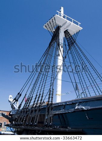 The U.S.S. Constitution, Boston - stock photo
