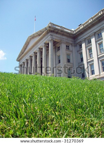 The U.S. Treasury Building in Washington, D.C. - stock photo
