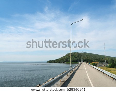 "The Ubol Ratana Dam, formerly known as the ""Phong Neeb Dam"", Khon kaen, Thailand"