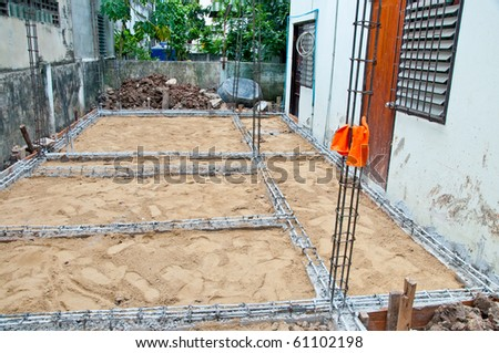 The Under construction of house - stock photo