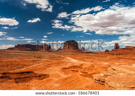 The unique landscape of Monument Valley, Utah, USA.