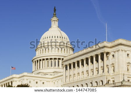 The United States Capitol. - stock photo