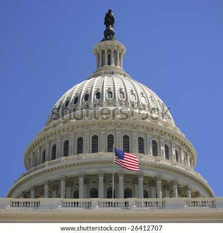 The United States Capitol building dome. - stock photo