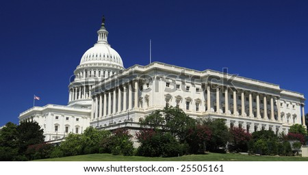The United States Capitol Building in Washington, DC. - stock photo