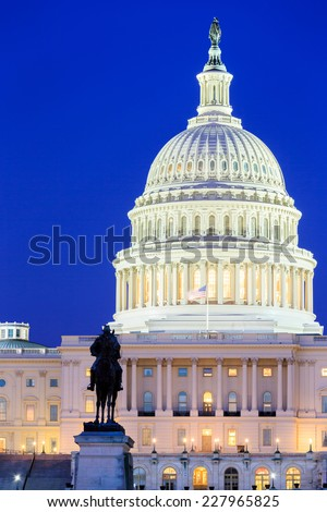 The United States Capitol building in Washington DC, USA - stock photo
