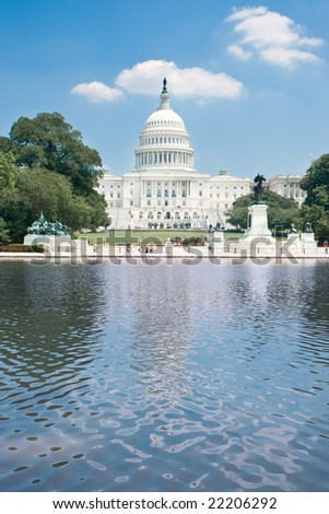 The United States Capitol in summer - stock photo