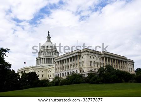 The United States Capitol, in Washington DC. - stock photo