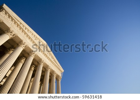 The United States Supreme Court; copy space. - stock photo