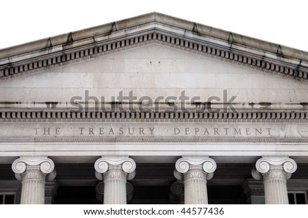 The United States Treasury Department building in Washington, D.C. - stock photo