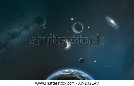 The universe - stock photo