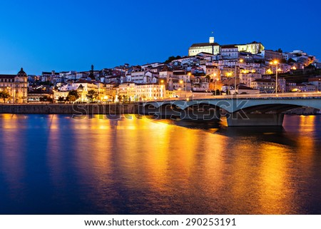 The University of Coimbra is a university in Coimbra, Portugal. Established in 1290, it is one of the oldest universities in the world. - stock photo