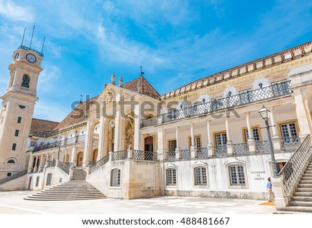 The University of Coimbra, Portugal -  A UNESCO World Heritage Site