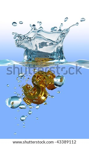 The unsinkable dollar - stock photo
