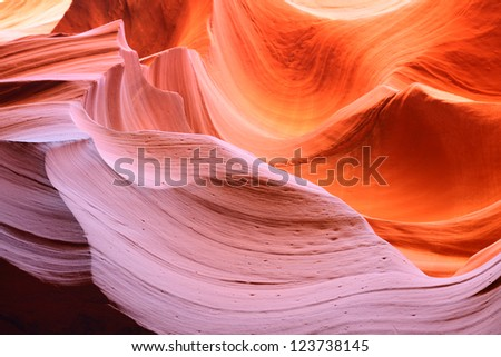 The Upper Antelope Canyon, Page, Arizona, USA. The second edition with the expanded range