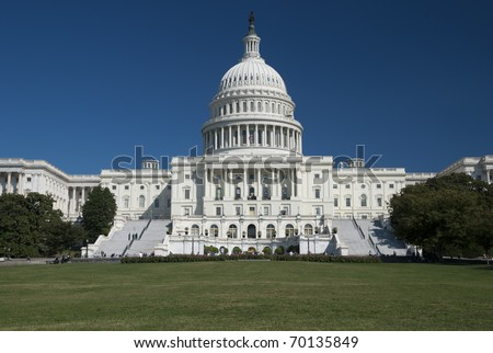 The US Capitol in Washington D.C. - stock photo