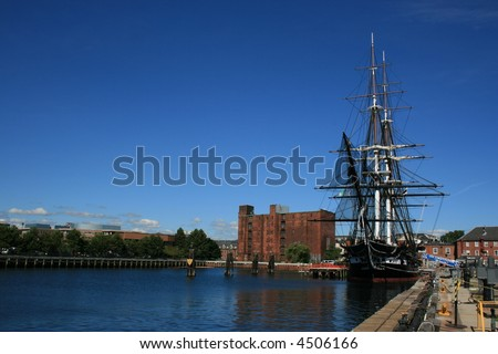 The USS Constitution, Boston. - stock photo