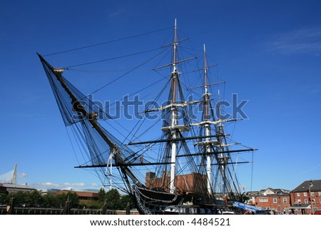 The USS Constitution in Boston, Massachusetts. - stock photo