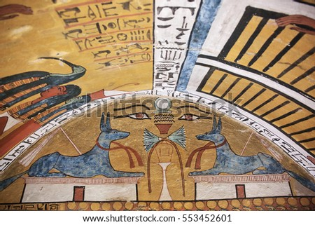 Luxor egypt stock images royalty free images vectors for Ancient egyptian tomb decoration