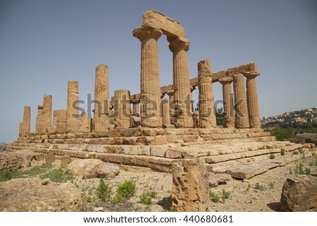 The Valley of the Temples in Agrigento, Italy