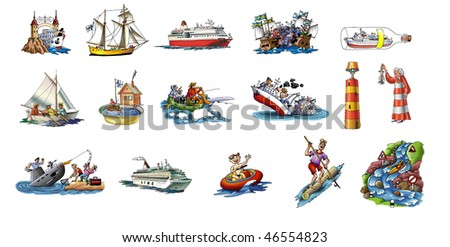 The various ships, boat and more_1