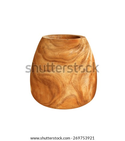 The vase is made of wood - stock photo