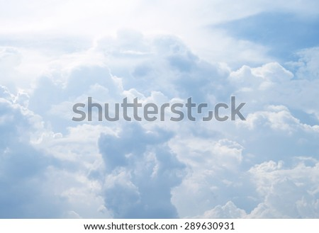 The vast blue sky and clouds sky - stock photo