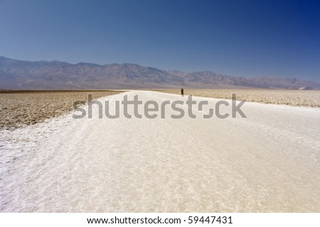 The vast salt beds of Badwater, Death Valley