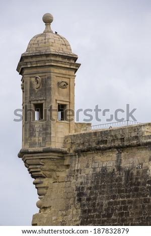 The Vedette in Senglea, near Grand Harbour and Valletta in Malta, a UNESCO World Heritage Site. - stock photo