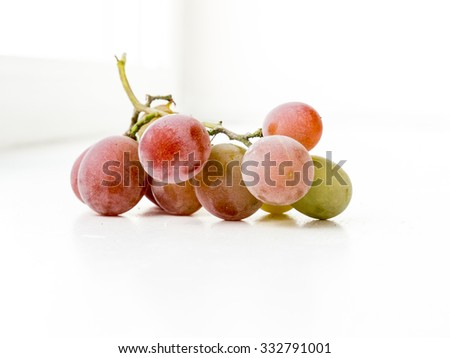 The vegetable variocolored grape object. - stock photo
