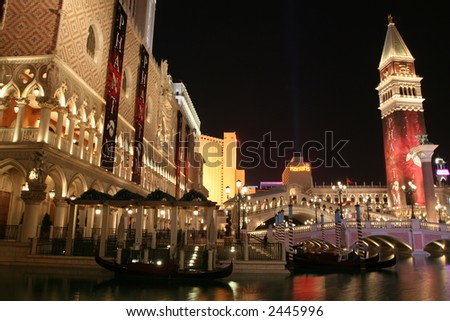 The Venetian in Las Vegas, Nevada - stock photo
