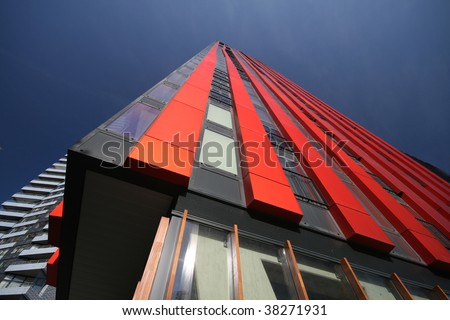 The Very Modern And Innovative Tower For Apartments, Offices And Shops,  Named The Red