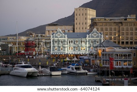 The Victoria and Alfred Waterfront, Cape Town, South Africa. - stock photo