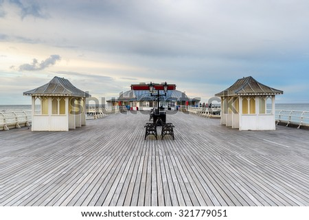 The Victorian seaside pier at Cromer on the north coast of Norfolk - stock photo