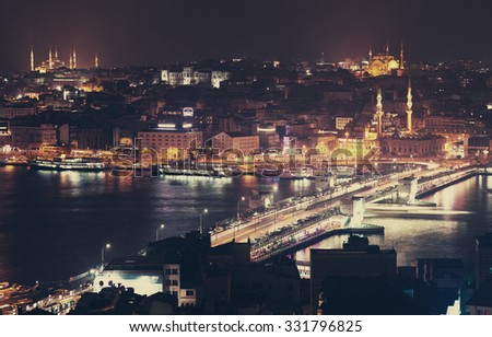The view from Galata Tower, Istanbul.