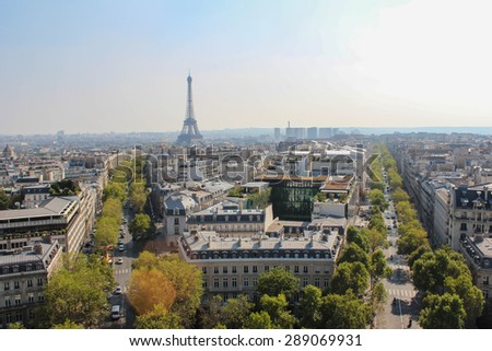 The view from the roof of the diverse architecture of Paris.