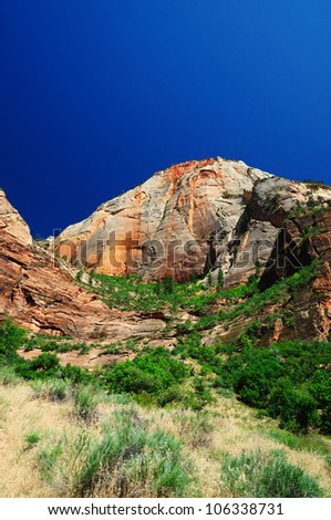 The View of Canyon Junction at Zion - stock photo