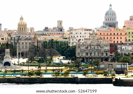 the view of Havana, Cuba - stock photo
