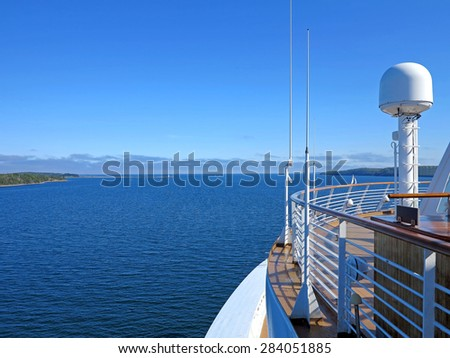 The view of McNabs Island, Halifax, Nova Scotia, Canada from a cruise ship - stock photo