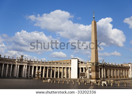 The view of St. Peter's Square without tourists in it.
