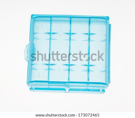 the view of the battery holder - stock photo